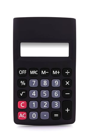 Calculator with empty display - isolated over white background