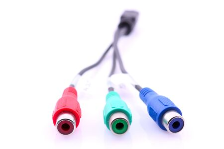 A component video cable over white background