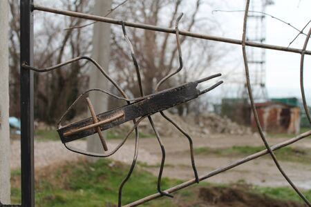 garden grating, spider and spider netting, metal, wire, handmade, electric welding, garden ornaments,