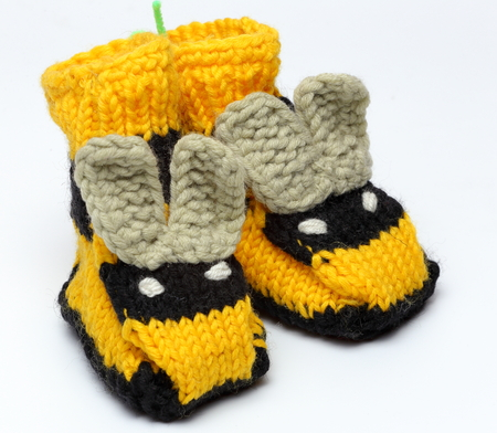 Knitted crochet shoes baby newborn