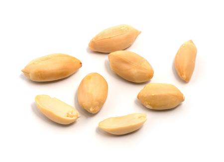 group of peeled peanuts 写真素材