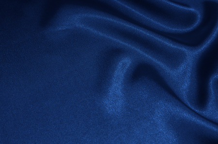 Blue satin, silk, texture background Banco de Imagens