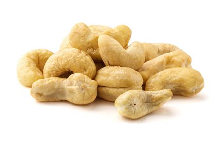 cashew nuts heap on white background Stock fotó