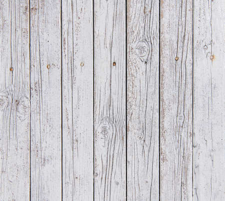 Old white wood planks background texture