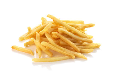 pile of french fries on a white background 免版税图像