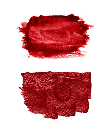Red ink background painted by brush.