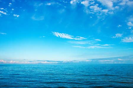 Beautiful sea and clouds sky