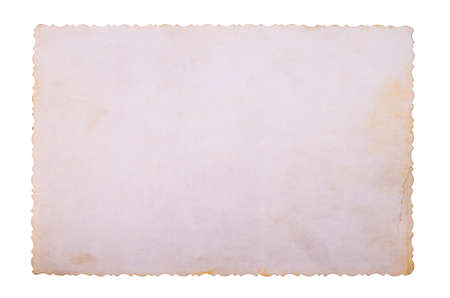 Old paper background texture on white background 免版税图像