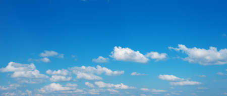 Blue sky with white clouds. 免版税图像