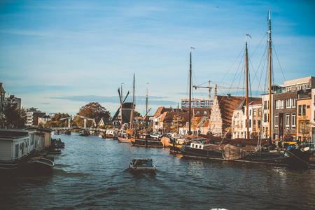 netherlands: Leiden canal Netherlands