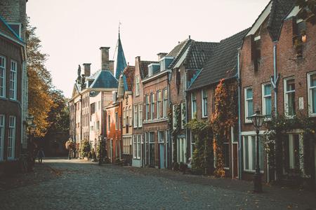 netherlands: Leiden street Netherlands Stock Photo