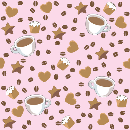 Illustration of coffee background.