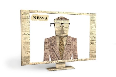 3d graphics, illustration for an article about the media