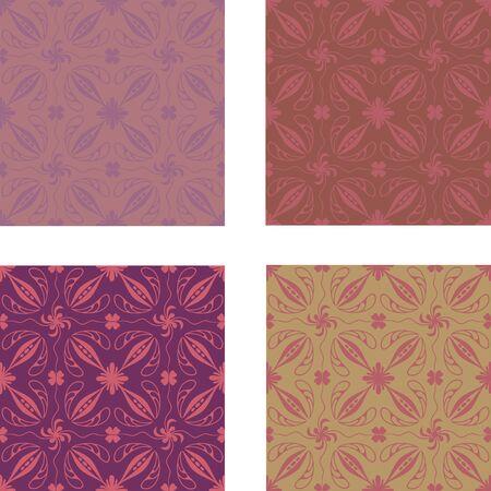 Illustration of a brown pattern, vector image. Illustration