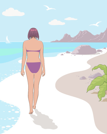 Stock Illustration Beach, vector image, high quality of performance