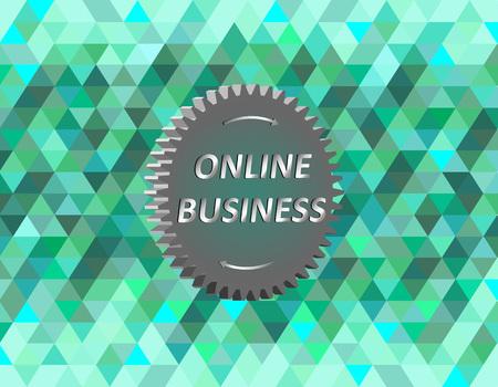 Illustration of online business, vector image Vettoriali