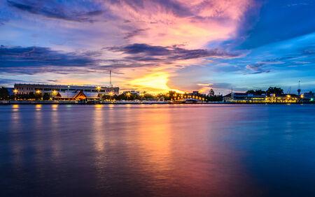wat arun: Port, Wat Arun,  Naval Auditorium ,Thailand Stock Photo