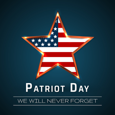 Patriot Day 9.11 digital sign with star. vector illustration. Vectores
