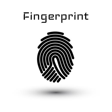 Finger-print Scanning Identification System. Vector illustration.
