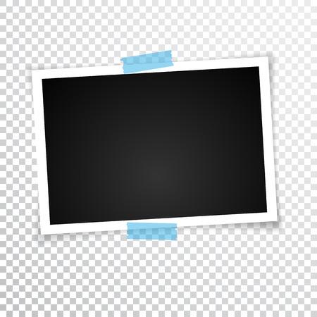 Retro Fotorahmen mit Schatten. Vektor-illustration Standard-Bild - 97017021