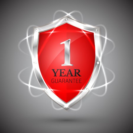 Shield with a guarantee 1 year icon.