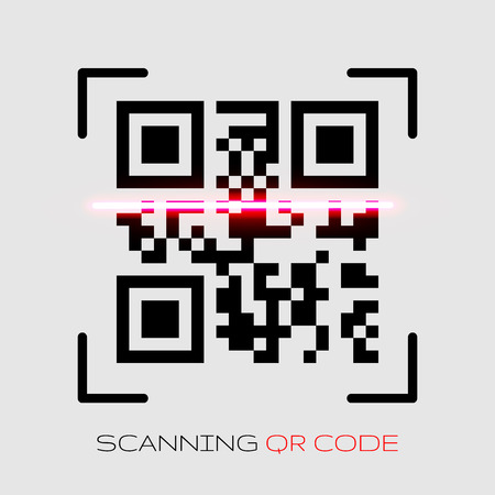 Vector QR code sample for smartphone scanning