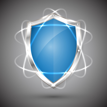 Shield with a guarantee icon. Security Vector illustration.