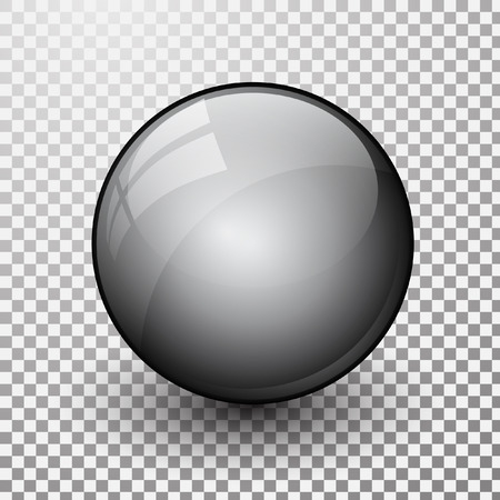 Grey shiny button, vector design for website