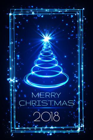 merry christmas greeting card, vector.