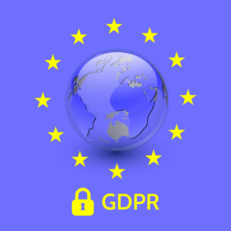 EU General Data Protection Regulation. eu gdpr vector illustration.