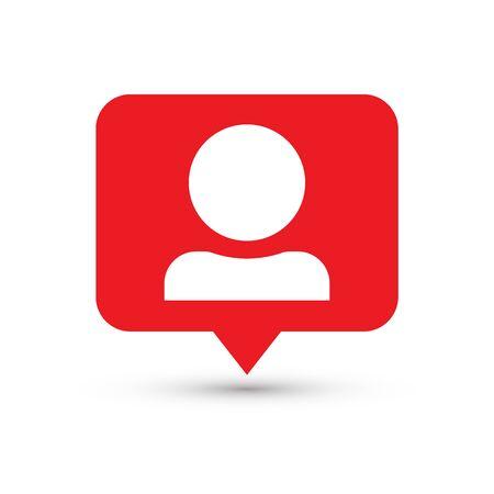 Follower notification. Social media icon user. User button, symbol, sign.