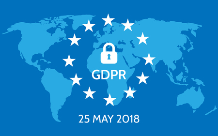 EU General Data Protection Regulation vector illustration.