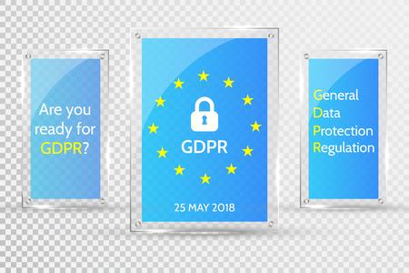 EU General Data Protection Regulation. eu gdpr vector illustration.