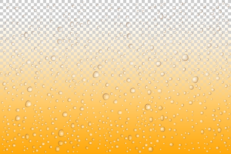 Beer drops on glass, Vector Water drops on glass. Rain drops on transparent background. Illustration