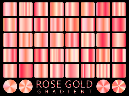 Rose Gold background texture vector icon seamless pattern. Light, realistic, elegant, shiny, metallic and rose gold gradient illustration. Mesh vector. Design for frame, ribbon, coin, abstract. Illustration