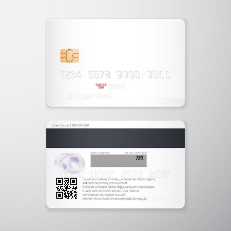 Carte de crédit cartes réaliste de crédit détaillées ensemble ensemble abstrait illustration. modèle de retour et de remboursement . template de paiement . illustration vectorielle eps10 Banque d'images - 99500151