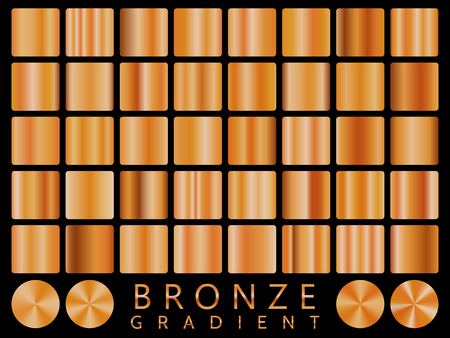 Bronze background texture vector icon seamless pattern. Light, realistic, elegant, shiny, metallic and bronze gradient illustration. Mesh vector. Design for frame, ribbon, coin, abstract.