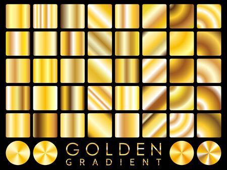 Gold background texture vector icon seamless pattern. Light, realistic, elegant, shiny, metallic and golden gradient illustration. Mesh vector. Design for frame, ribbon, coin, abstract.