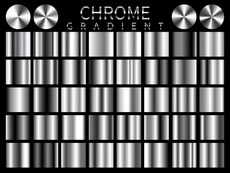 Chrome background texture vector icon seamless pattern. Light, realistic, elegant, shiny, metallic and chrome gradient illustration. Mesh vector. Design for frame, ribbon, coin, abstract. Illustration