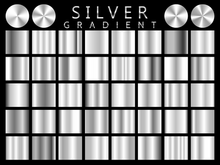Silver background texture vector icon seamless pattern. Light, realistic, elegant, shiny, metallic and silver gradient illustration. Mesh vector. Design for frame, ribbon, coin, abstract.