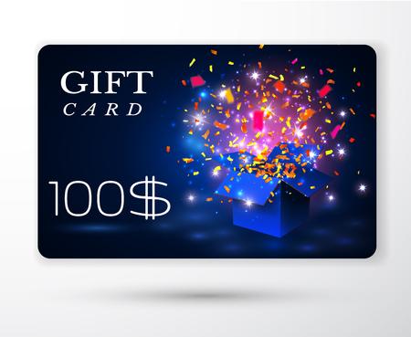 Vector gift vouchers card. Illustration