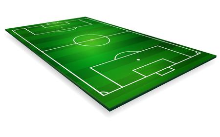 vector illustration of football field, soccer field. Illustration