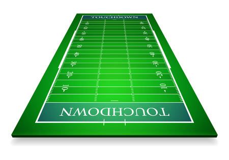 detailed illustration of an American Football fields with perspective, eps10 vector.