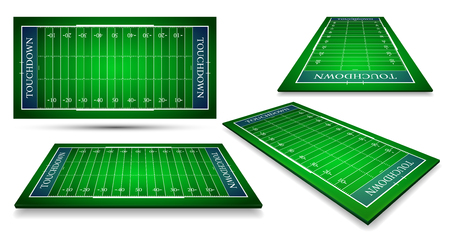 detailed illustration of an American Football fields with different perspective, eps10 vector. Illustration
