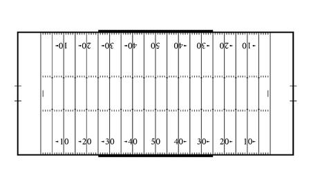 American football field. Sport background. Line art style.