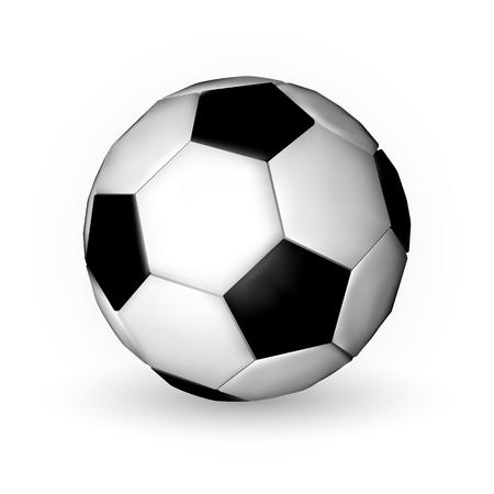 Football ball, soccer ball on wfite background.