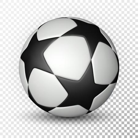 Football ball, soccer ball on transparent background. Vector illustration.