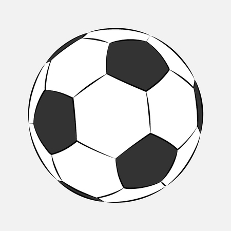 Football Soccer ball icon isolated on white background. Logo Vector Illustration. Cartoon stile. Football sports symbol, Championship soccer.