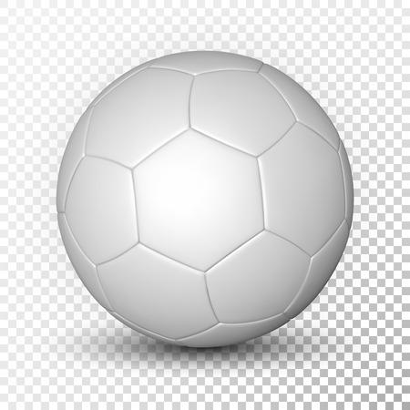 Football ball, soccer ball, mockup, on transparent background. Vector illustration. Illustration