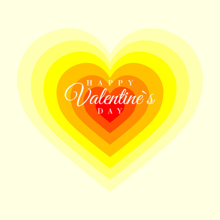 Retro Valentine card with hearts. Greeting card, poster, banner collection.